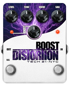 TECH21 SansAmp Boost Distortion新貨日扭[TEC 21][太陽放大器][推進日扭][Distortion][Effector,效應器]