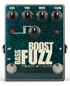 TECH21 SansAmp Bass Boost Fuzz新貨大音階第四音[太陽放大器][基礎推進大音階第四音基礎推進大音階第四音][效應器,Effector]