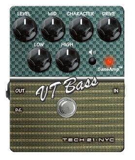 TECH21 SansAmp VT 低音全新貝斯音箱模擬器 [sansamp],[Amp 模擬器] [前置] [效應器和效應器]