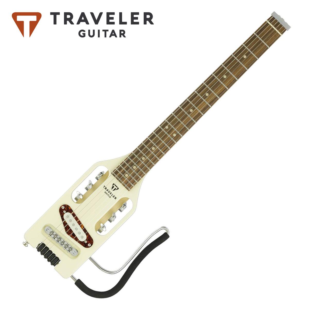 ギター, エレキギター Traveler Guitar Ultra-Light Electric Vintage White ,Guitar,