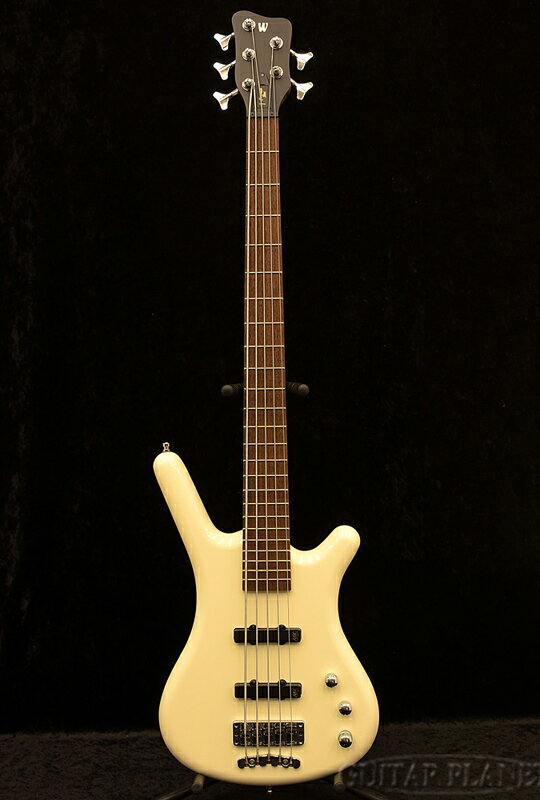 ベース, エレキベース Warwick Germany Pro Series Corvette Ash 5-Solid Creme White High Polish- ,5strings,5Electric Bass,