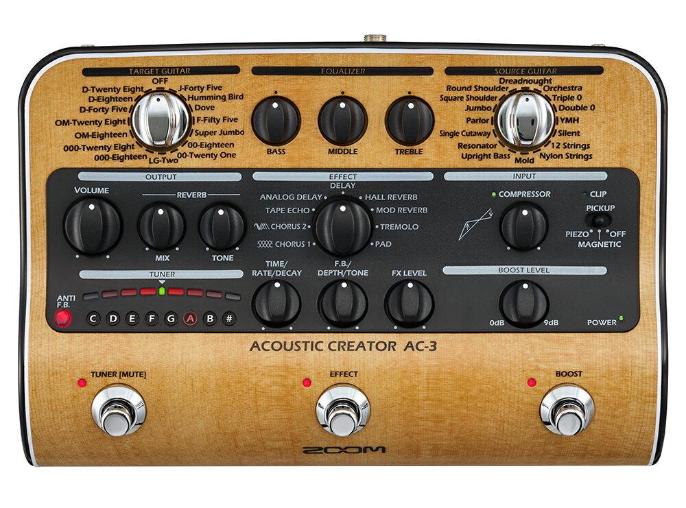 ギター用アクセサリー・パーツ, エフェクター ZOOM AC-3 Acoustic Creator Pre AmplifierEffector,Acoustic GuitarAC3