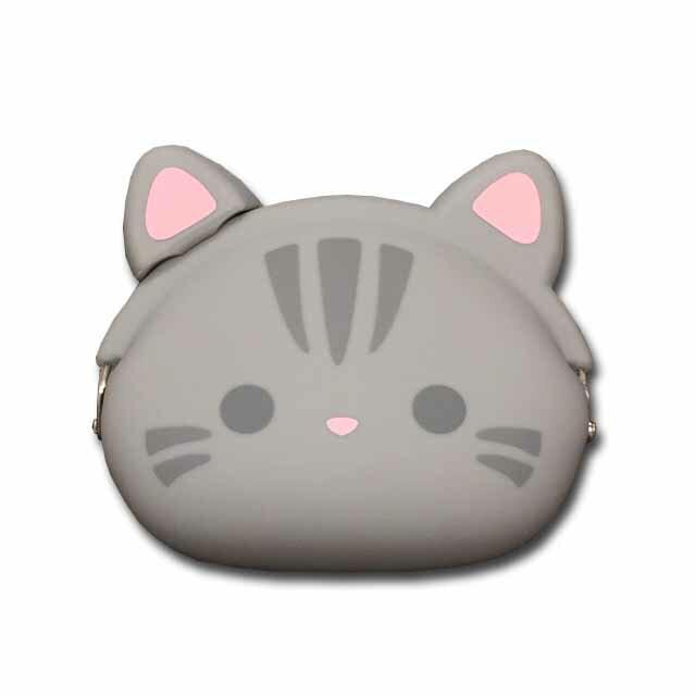 【シリコンがま口】mimi POCHIGMC502 アメショ  小銭入れ コインケース ☆☆☆☆