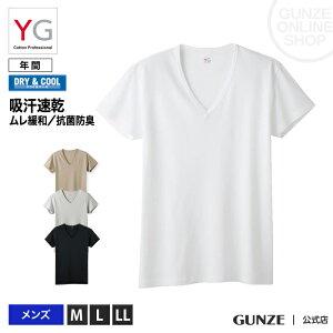 Tシャツ 吸汗速乾 消臭 GUNZE VネックTシャツ 男性下着(紳士) 夏 メンズ/YV1015N GUNZE11