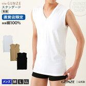 the GUNZE(ザグンゼ)/Vネックスリーブレスシャツ(V首)(紳士)M〜LLサイズ/CK9018N