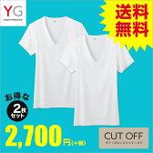 GUNZE(グンゼ)/YG/ネット限定お得セット YGカットオフ VネックTシャツ2枚セット(V首)(紳士)/SETM087