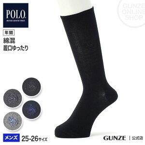 GUNZE グンゼ POLO BCS ポロビーシーエス ビジネスソックス メンズ PL0133 25-26 紳士靴下 オフィス 就職活動 オンタイム シンプル 仕事用 消臭加工 つま先補強 ソフトくちゴム はきやすい 年間 無地 男性用 ブラック 黒 グレー GUNZE91