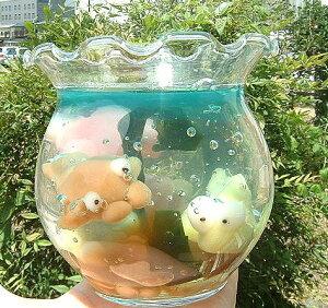 【白玉細工】世界にひとつ!アーティストきよらのきんぎょ鉢ゼリー♪(3匹)