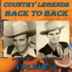 [CD]ERNEST TUBB / BOB WILLS アーネスト・タブ/ボブ・ウィルズ/COUNTRY LEGENDS BACK TO BACK VOL. 2【輸入盤】