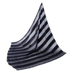 【ネコポス対応】シルクのスカーフ(ストライプ柄)[M便 1/1]【A】【キャンセル・返品不可】