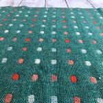 尾州ウール国産ウール生地オリジナル和ドット柄約50cm×約145cm