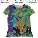 ルシアンペラフィネ lucien pellat-finet レディース カラフル スカル 半袖 Tシャツ AT1596F 13S (R118000)【送料無料】【smtb-TK】