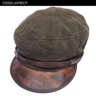 【送料無料】 ディースクエアード(DSQUARED2) ユニセックス ユニセックス レザーキャスケット キャップ 帽子 S14 HA1003 V102 8066 【楽ギフ_包装】 14S