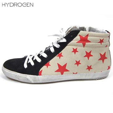 【送料無料】 ハイドロゲン(HYDROGEN) メンズ スター ハイカット スニーカー 靴 148300 041 【楽ギフ_包装】 【smtb-tk】 14S
