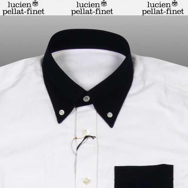 ルシアンペラフィネ lucien pellat-finet  メンズ スカル オックスフォード ボタン ダウン シャツ KO 12H WHITE/NAVY 14A【smtb-TK】