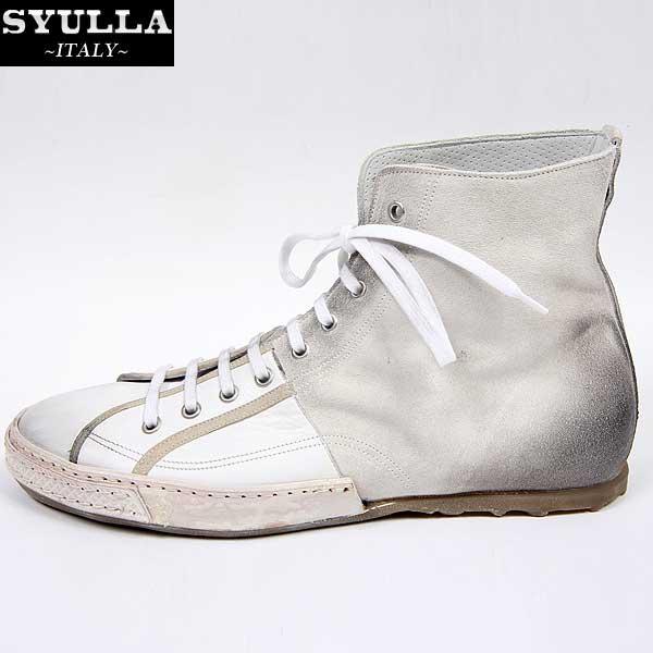 シュラ SYULLA  メンズ レザー ハイカットシューズ 靴 09320A WH (R58126)【smtb-TK】