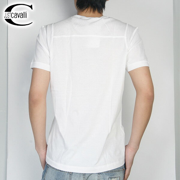 ジャストカバリ JUST Cavalli  クルーネック 半袖 Tシャツ RO2762 ホワイト 白 【smtb-TK】