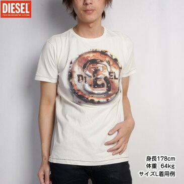 ディーゼル DIESEL メンズ Tシャツ 半袖 00CE1T-00ULE-129ホワイト 白 (R8520)