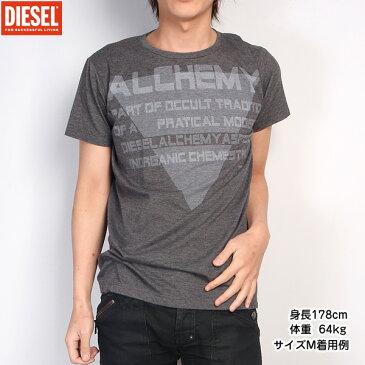 【サイズL】ディーゼル DIESEL メンズ Tシャツ 半袖 00CGG4-00NHP-900 (R7682) グレー