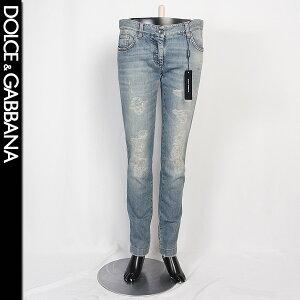 [Size 42] Dolce&Gabbana DOLCE&GABBANA Ladies Skinny Jeans FT8NTD G8684 S9001 Washed Blue (R71884) [Free Shipping] [smtb-TK]