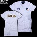 エンポリオアルマーニ EMPORIO-ARMANI レディース 半袖 Tシャツ EA7 283463 CC914 00110 OFF WHITE 15S (R12100)