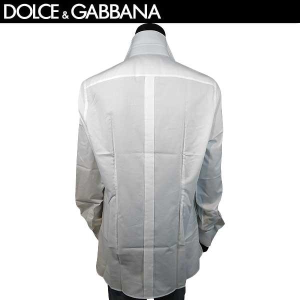 ドルチェ&ガッバーナ DOLCE&GABBANA  メンズ GOLD コットン  ドルガバ ボタンダウンシャツ 長袖ワイシャツ 白 ホワイト G5EB3T FM5B3 S8032 71S【smtb-TK】