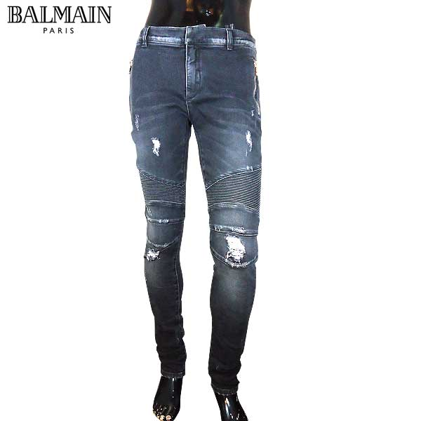 バルマン BALMAIN  メンズ ライダースパンツ スキニー ジーンズ S7H9528 T097 176 71S (R137160) 【smtb-TK】