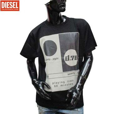 ディーゼル DIESEL メンズ クルーネック 半袖 Tシャツ 00SVRF 900 71S (R10584)