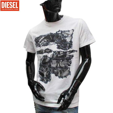 ディーゼル DIESEL メンズ クルーネック 半袖 Tシャツ 00SVRI 100 71S (R8424)