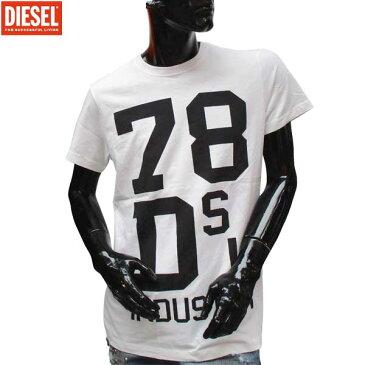 ディーゼル DIESEL メンズ クルーネック 半袖 Tシャツ 00SVR7 100 71S (R7344)