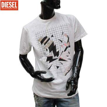 ディーゼル DIESEL メンズ クルーネック 半袖 Tシャツ 00SXNS 100 71S (R9504)
