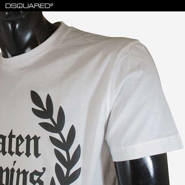 ディースクエアード DSQUARED2  メンズ クルーネック 半袖 Tシャツ S71GD0536 S22427 100 71S【smtb-TK】