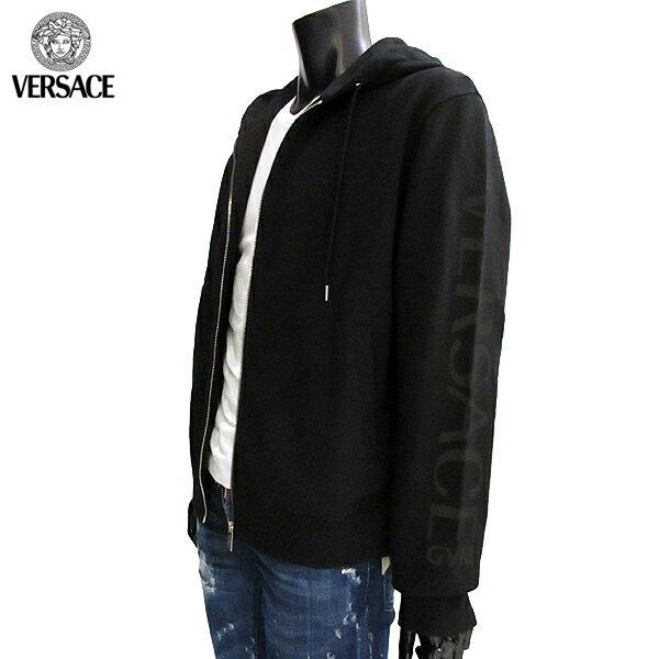 ヴェルサーチ Versace  メンズ ジップアップ パーカー AUU13008 AC00231 A008 71A (R69000)【smtb-TK】