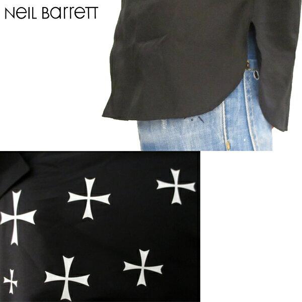 2018年秋冬新作 ニールバレット Neil Barrett  メンズ ドレスシャツ 長袖 黒 PBCM995C H025S 524 81A (R61160)【smtb-TK】