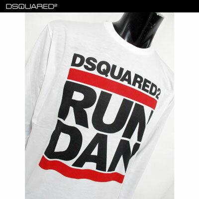 2018年秋冬 ディースクエアード DSQUARED2 メンズ プリント ロンT ロング Tシャツ 長袖 ブラック 色違いで白有ります。 S74GD0421 S21600 900 / 100 81A【smtb-TK】