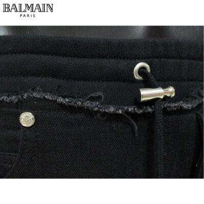 2019年春夏新作 バルマン BALMAIN  メンズ スウェットパンツ ボトムス ズボン ジャージ 黒 ブラック RH15243 D016 0PA 91S (R141200) 【smtb-TK】
