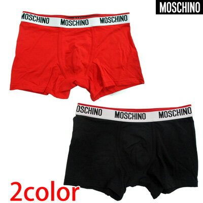 モスキーノ MOSCHINO メンズ 下着 アンダーウェア ロゴ 2color MOSCHINOブランドロゴ入りアンダーウェア 赤/黒 4717 8119 114/555 91S (R5500)