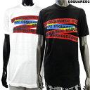 ディースクエアード DSQUARED2 メンズ トップス Tシャツ 半袖 ロゴ 2color DSQUARED2テープロゴ入りカットソー 白/黒 GD0740 S22427 100/900 GB91S (R41040)【送料無料】 【smtb-TK】