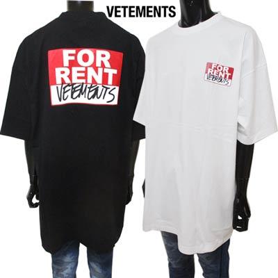 トップス, Tシャツ・カットソー  T VETEMENTS FORRENTT 2color SS20TR372 1621 WHITEBLACK (R48070) smtb-tk GB91A