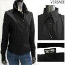 ヴェルサーチ VERSACE レディース シンプルデザイン カジュアルシャツ 黒 dv6600 06675 900 (R17800)