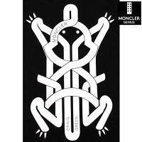 モンクレールジーニアス(MONCLERGENIUS)メンズトップスTシャツ半袖ロゴGENIUSCraigGreenコラボフロッググラフィックロゴプリント付Tシャツブラック8C00002809E3999(R37400)ET1212021年春夏新作【送料無料】【smtb-TK】
