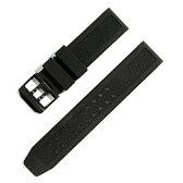 LUMINOX ルミノックス 対応 腕時計 ベルト 23mm ウレタン ラバー バックル ブラック ダブルピンインバックル 交換工具付