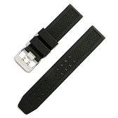 LUMINOX ルミノックス 対応 腕時計 ベルト 23mm ラバー バックル シルバー ダブルピンインバックル 交換工具付