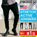 GYMCROSS (ジムクロス)ジョガーパンツ メンズ トレーニングウェア フィットネスウェア