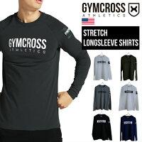 GYMCROSS(ジムクロス)トレーニングフィットネスウェアプリント長袖Tシャツラグランスリーブ【メンズ】gc-ss2
