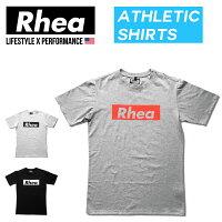 Rhea(レアー)トレーニングウェアフィットネスストリートワークアウトTシャツ半袖ストレッチ【メンズ】rh-004
