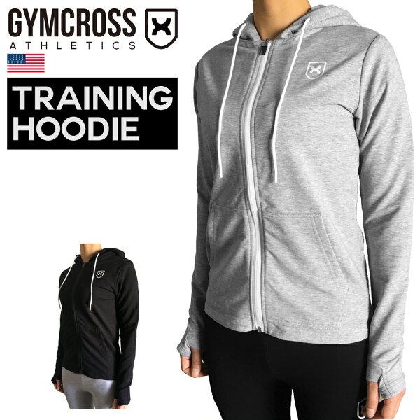 GYMCROSS(ジムクロス)トレーニングフィットネスウェアロングスリーブフーディーパーカースウェットアスレティックフィットスト
