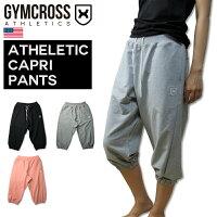 GYMCROSS(ジムクロス)カプリパンツスウェットストレッチヨガトレーニングフィットネスウェアダンスズンバジョギング【レディース】wgc-003