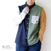 gymmaster(ジムマスター)G802322カラフルスナップボタン2WAYシャツ