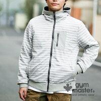 gymmaster(ジムマスター)G857370ボーダーxナイロンリバーシブルJKT